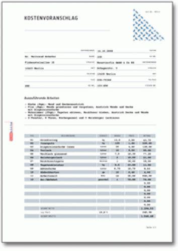 Gutachten Praktikum Vorlage 5 kostenvoranschlag kfz bewerbungsschreiben
