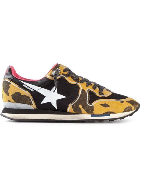 leopard sneakers lyst golden goose deluxe brand leopard print sneakers in