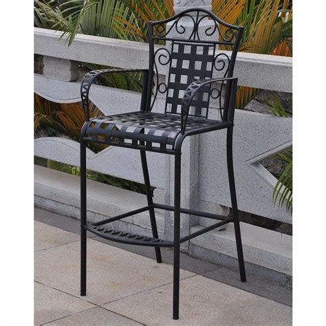 bar stool patio set iron bar height patio bar stool set of 2 3467 ch