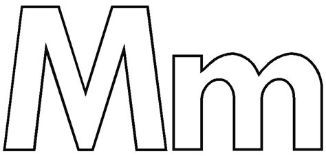 Alphabet M Coloring Pages by Letter M Coloring Pages Getcoloringpages