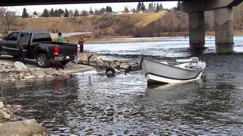drift boat chain anchor drift boat launch at glenmore trail graves landing youtube