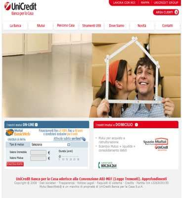 mutuo 100 prima casa unicredit calcolo rata mutuo calcolo mutuo mutui servizi finanziari