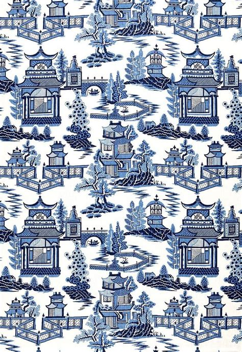 willow pattern wallpaper details about schumacher chinoiserie pagoda toile linen