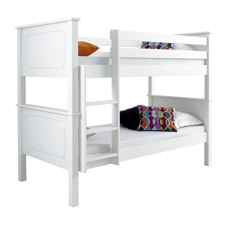 White Wooden Bunk Beds With Mattresses Betternowm Co Uk Vancouver Solid Pine Wooden Bunk Bed With 2 X Mattresses Colour Available