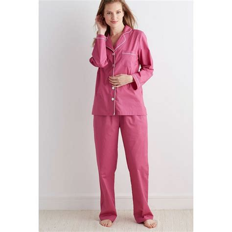 solid poplin womens pajamas set the company store