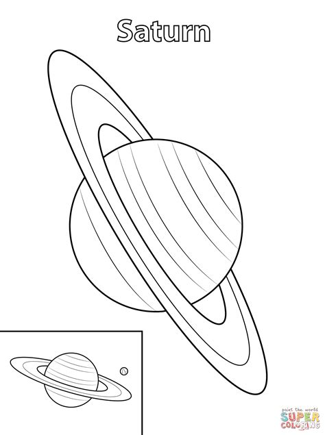 Saturn Planet Coloring Page Pics About Space Saturn Coloring Pages