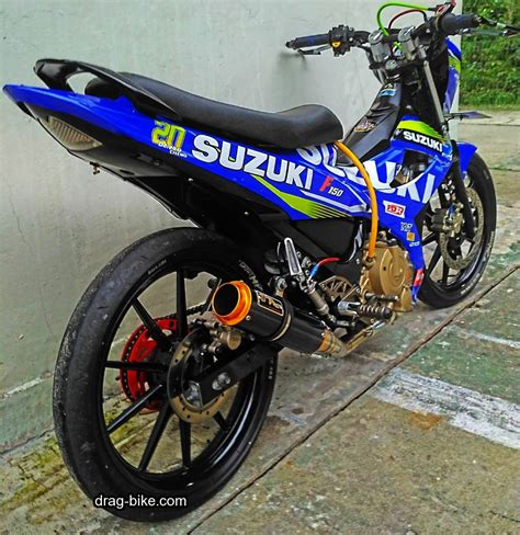 gambar motor race 45 foto gambar modifikasi motor satria fu drag race style