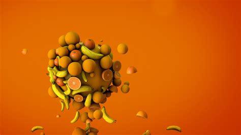Banana Wallpaper Abstract 3d | orange bananas 3d hd 3d 4k wallpapers images
