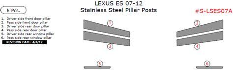 Es Batu Stainless 6 Pcs lexus es 07 12 stainless steel pillar posts 6 pcs