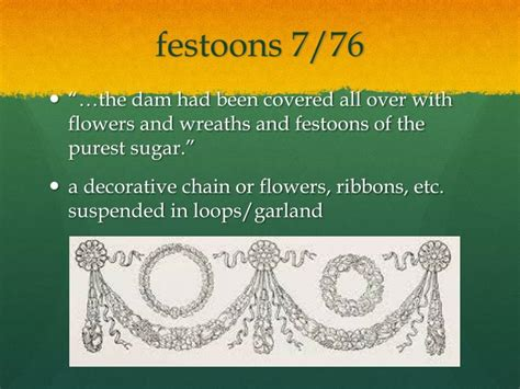 suspended decorative chain of ribbons and flowers ppt the lion the witch the wardrobe powerpoint