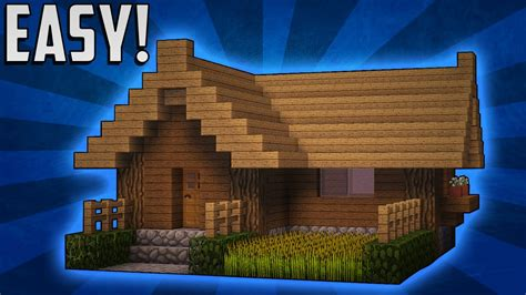 minecraft survival house tutorial minecraft how to build a small survival starter house tutorial 2 youtube