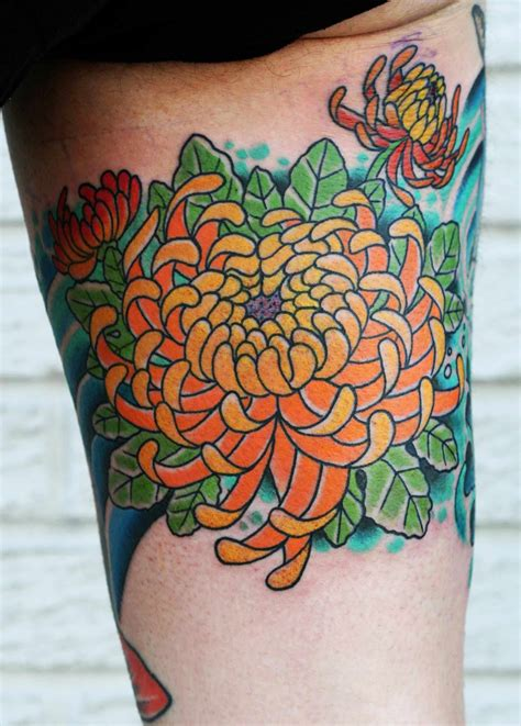 chrysanthemum flower tattoo designs chrysanthemum design and symbols