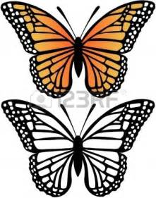 Monarch Butterfly Outline by Monarch Butterfly Drawing Cliparts Co
