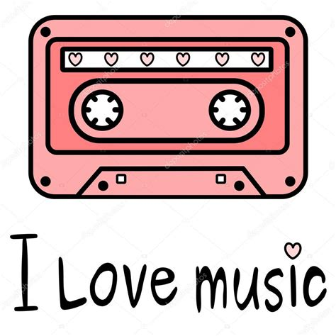 80 s love songs medley free download cute cartoon pink music tape with i love music quote