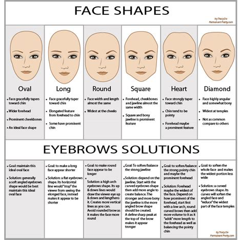 find the best eyebrow shape for your face shape magazine eyebrows shapes according to the face form alldaychic