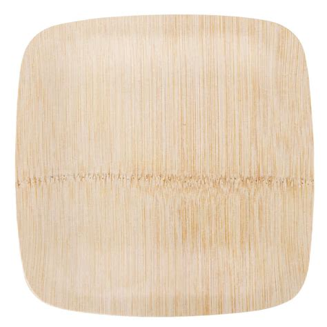 bamboo plates bambu 063100 7 quot disposable square bamboo plate 25 pack
