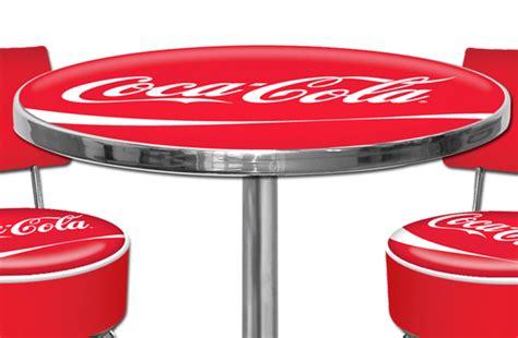 Tabouret De Bar Coca Cola by Ensemble 3 Pi 232 Ces Table Et Tabourets Hauts Coca Cola