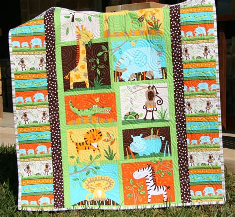 Jungle Baby Quilt by Jungle Baby Quilt Gender Neutral Crib Bedding By