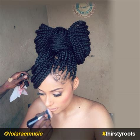 Box Braids Hairstyles Accessories by How To Do A Bow Hairstyle On Braids Or Locs