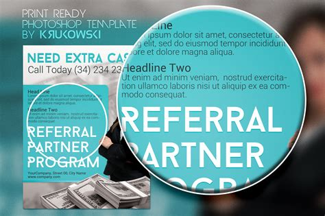 Referral Partner Program Flyer Flyer Templates On Creative Market Referral Program Flyer Template