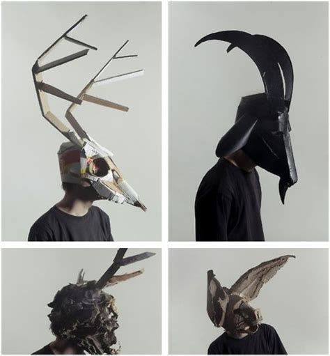How To Make A 3d Mask Out Of Paper - cardboard masks by josef mrva vicious behavior