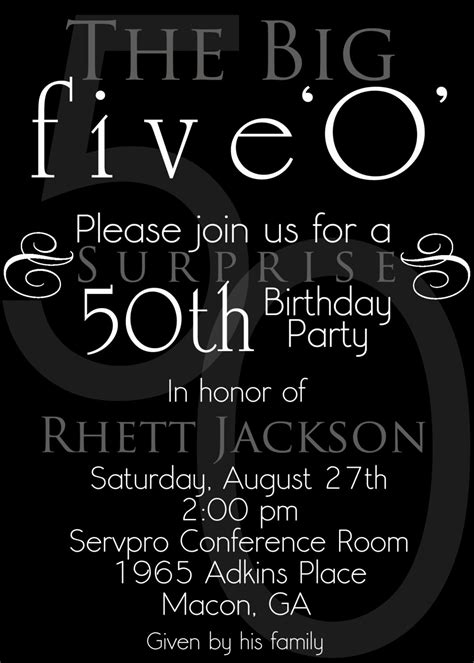 surprise 50th birthday party invitations template best
