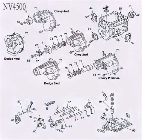 transmission parts diagram nv4500 transmission parts
