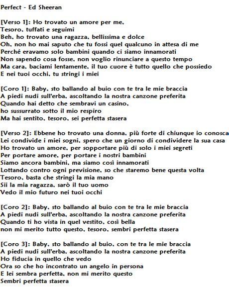 traduzione testo italiano inglese di ed sheeran traduzione testo e significato di