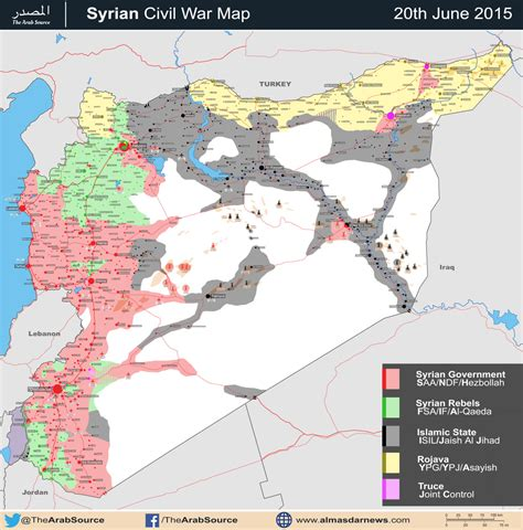 syria on map battle map syrian civil war june 2015