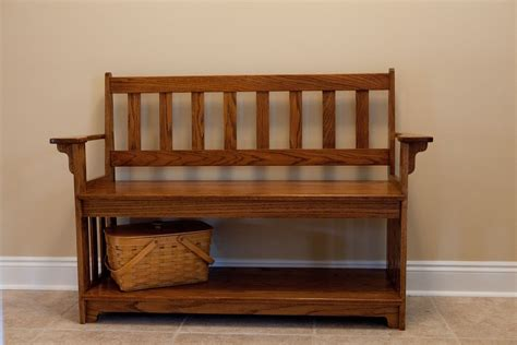 foyer bench custom made entryway bench by vintage woodworks of navarre