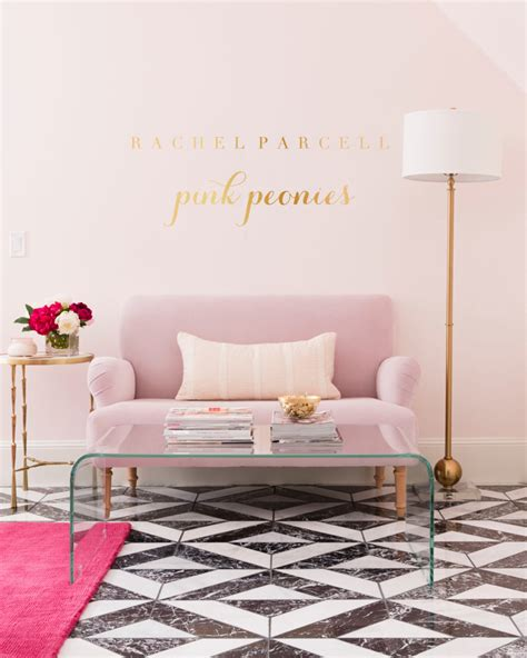 my home for the holidays pink peonies by rach parcell rachel parcell pink peonies office reveal pink