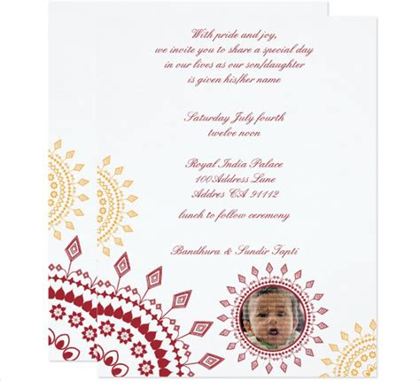 naming ceremony invitation templates free 23 naming ceremony invitation templates printable psd