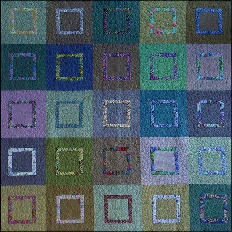 quilting from the fabric and patterns