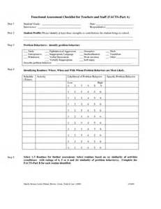 Function Checklist Template by Fucntional Assessment Checklist For Teachers And Staff