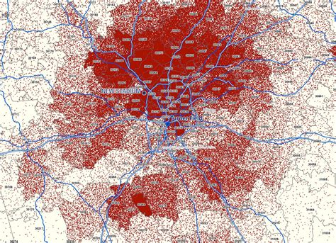 the heat map that shows just how polarized metro atlanta
