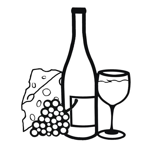 sketch of drinking and wine glasses coloring pages
