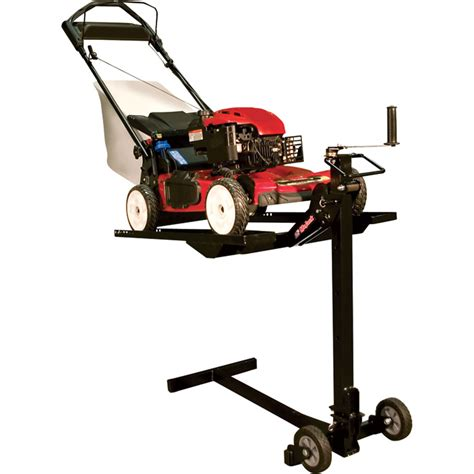 lawn mower work bench mojack lawn mower lift workbench attachment 200 lb