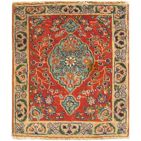 colorful antique tabriz rug with circular medallion