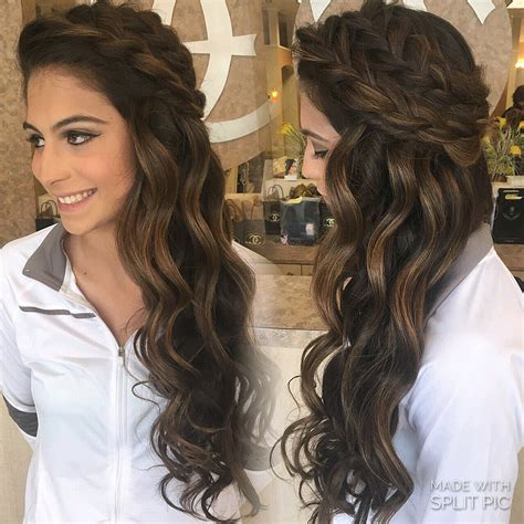 prom hairstyles with braids down style summer spring wedding boho braids big braids