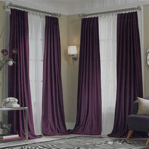 jcpenney purple curtains new jcpenney supreme midnight purple pinch pleated