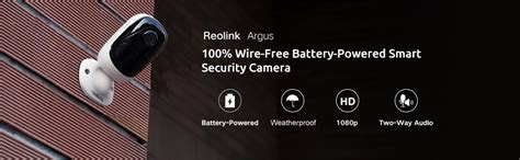 reolink argus 100 wire free 1080p hd outdoor