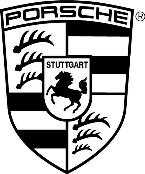 porsche logo vector porsche logo free vector 4vector