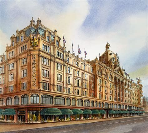 Timeless Design architectural watercolours harrods john walsom illustration