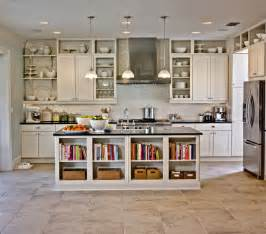 Kitchen shelving ideas in combination with open and closed cabinets