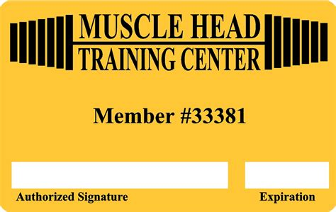 Gym Membership Gift Card - gym health club membership plastic cards