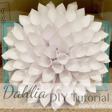 paper dahlia flower tutorial welcoming spring with a dahlia tutorial paper dahlias