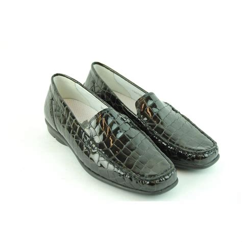 croc leather wide fitting loafers cinderella shoes