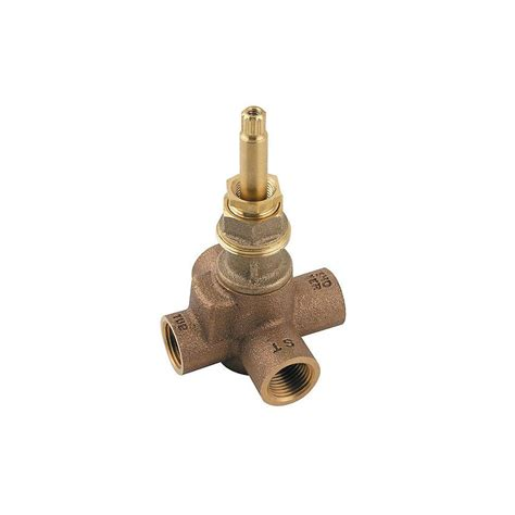 bathroom valves pfister 2 way 4 port diverter valve 015 iwdx the home depot
