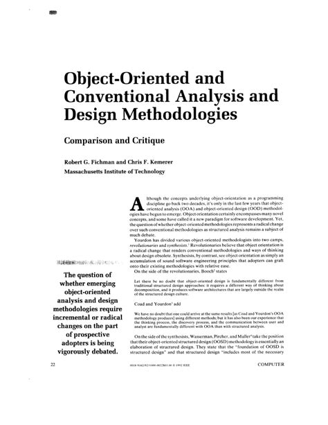 pattern oriented analysis and design pdf object oriented and conventional analysis and design