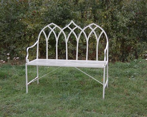 cream garden bench shabby chic rustic garden bench gothic sage green or cream